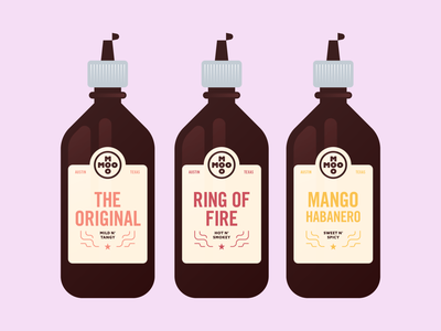 Moo Moo BBQ - 30 Days of Logos label packaging branding logo sauce bbq sauce food meat moo barbecue bbq