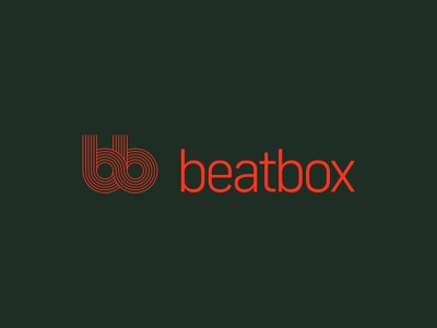 Beatbox - 30 Days of Logos monoline logo design music label branding logos logo mark b vinyl record records music