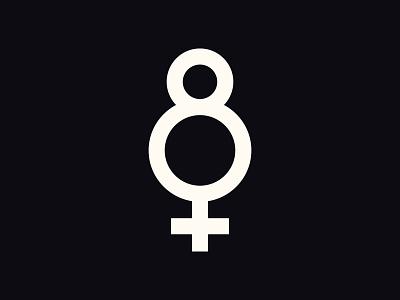 International Women's Day 💪 branding logo womens day march 8 empowered female 8 international womens day women