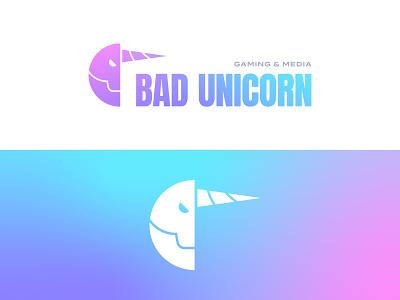 Bad Unicorn E-Sports – 30 Days of Logos geometric typography minimal flat logo mark gradient esports gaming colorful branding unicorn logo