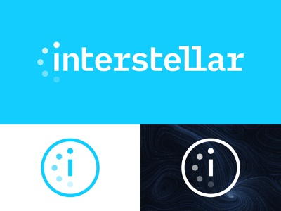 Interstellar - 30 Days of Logos logo design branding logo i science astronaut planets outer space logistics space