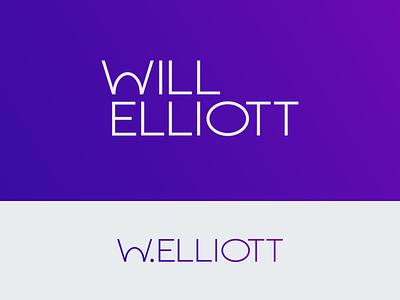 Will Elliott Branding Concept, I geometric minimal typography logo design wave gradient branding logo wordmark
