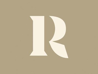 R minimal logo design logo branding sharp chisel blackletter letter r typography