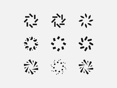 Radials & Things mark logo burst radial circle