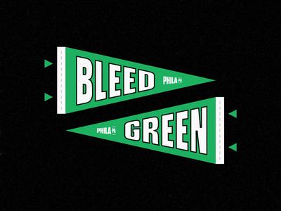 Bleed Green Pennant
