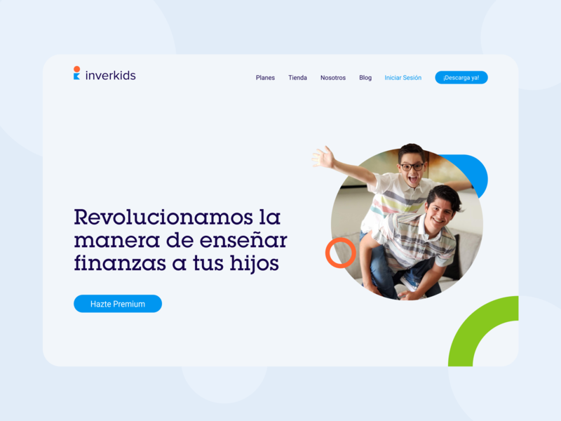 Inverkids web kids app web finance kids uidesign ux website branding design