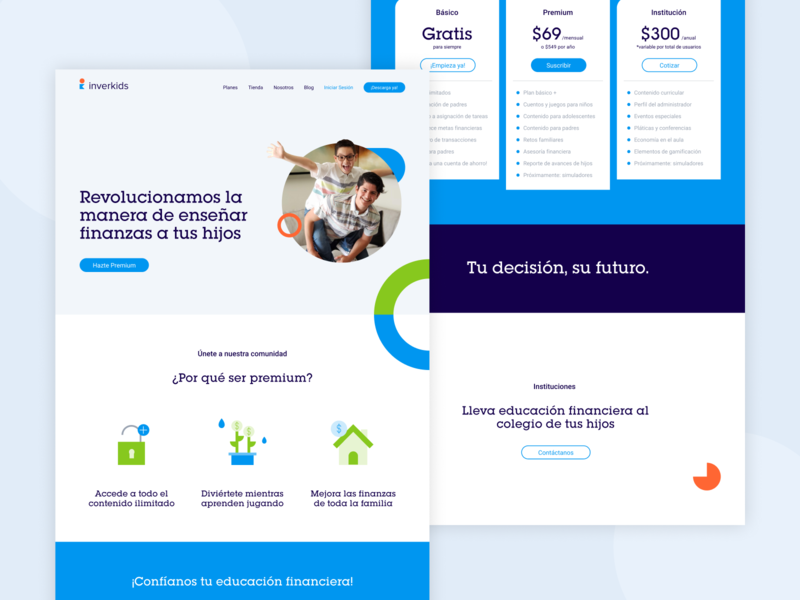 Inverkids web kids app kids finance uxdesign uidesign ui web design website design