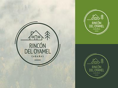 Logo Rincón del Oyamel nature cabin branding logo graphic design