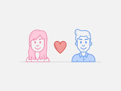 Designers Couple designers love illustration icon couple character avatar