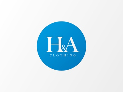 H&A Logo blue oxford mark clothing logo