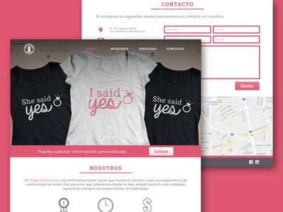 Website for a print company website web design ux user interface print company pink