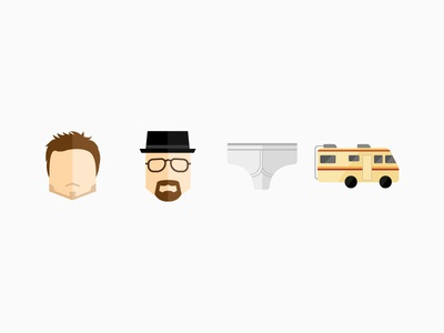 Breaking Bad icons jesse walter design flat breaking bad icons