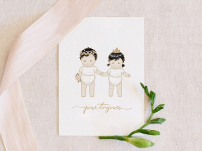 Toi Et Moi Pour Toujours Love Greetings Card By Fransisca