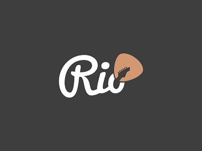 Logo Rio concept branding typography colors music modern logo