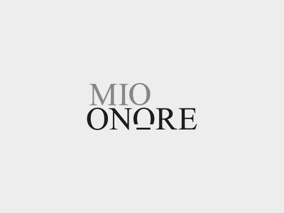 Mio onore black concept branding typography colors mode modern logo
