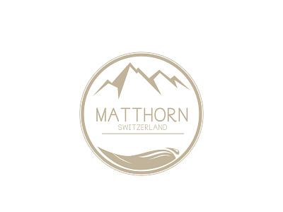 Logo Matthorn brand agency font clean logofolio mountain brand modern branding logo