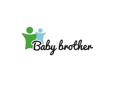 Baby Brother Logo blue green black branding and identity branding design brother baby colors illustration typography clean modern branding logo