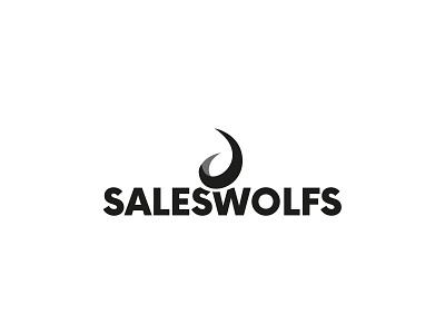 Saleswolfs Logo sales design brand agency branding and identity typography clean modern branding logo colors