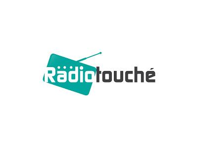 Radiotouché logo design radio branding and identity illustration typography clean modern branding logo colors