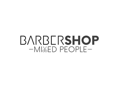Barbershop Logo people illustartor barber black branding and identity typography clean modern branding logo