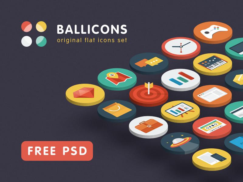 Ballicons — original flat icons set icons flat free set ballicons