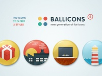 Ballicons2: passionate set of flat icons