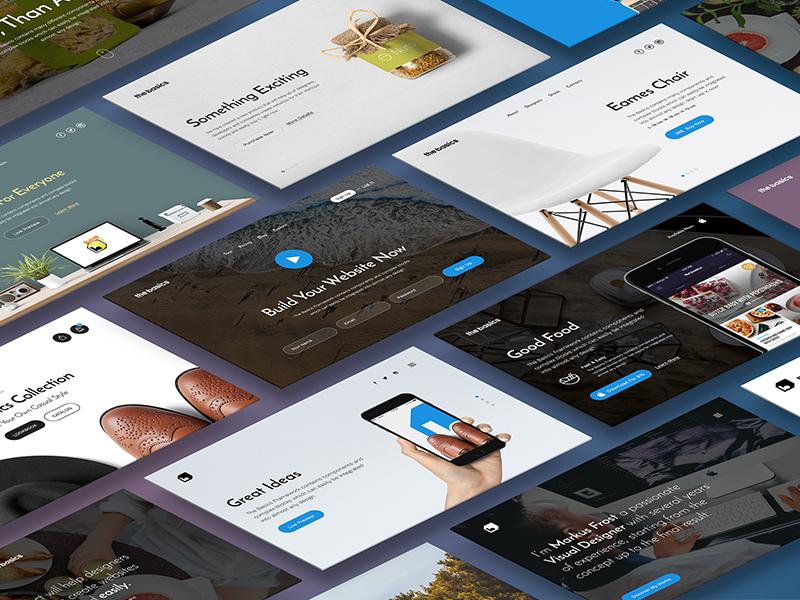 The Basics UI Sneak Peek desktop interface ux ui kit ui pixelbuddha