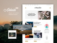 Adelaida Blogging PSD Template