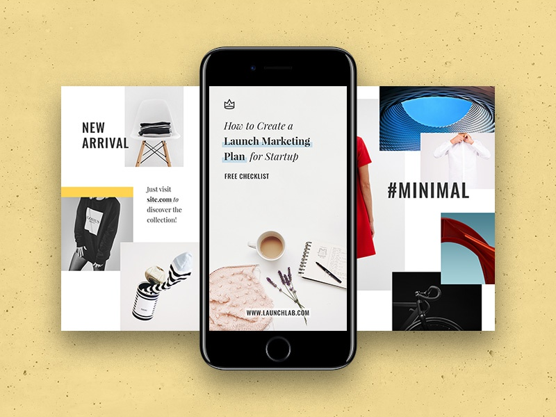 Everyday Instagram Templates design elegant presentation marketing smm sketch psd social media stories templates instagram