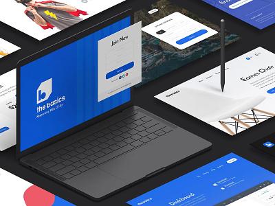 The Basics Web UI Kit web ui ux website hero landing promo feature psd sketch shop ecommerce