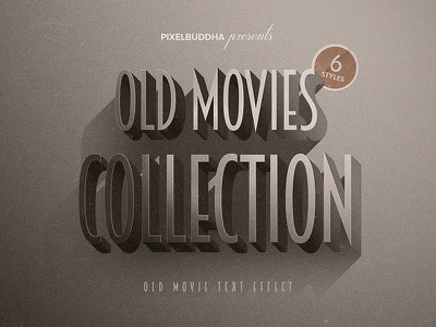 Old Movie Titles Collection vintage typography text style retro old text old movie noir title film calssic