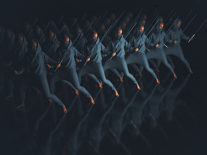 ninjaclan cyberpunk scifi photoshop after effects cgi 3d x particles octane render octane c4d cinema 4d