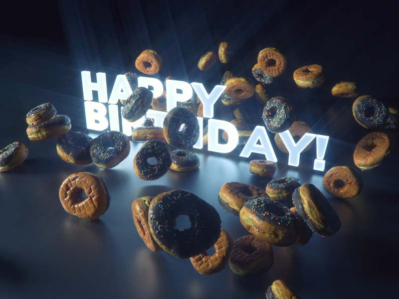 HBDonuts xparticles octane octane render 3d photogrammetry 3d scan cinema 4d donut