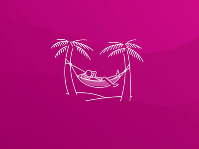 🌸 Hammock Animation 🌸 app hawaiian illustration loading chill hammock animation lottie