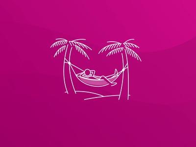 🌸 Hammock Animation 🌸 app hawaiian illustration loading chill hammock animation lottie