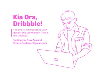 Kia Ora, Dribbble! new zealand wellington technology youth young designer debut
