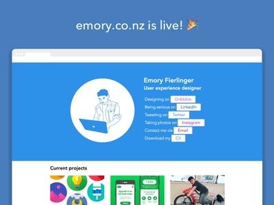 My website is live! personal website projects blog landing page web design portfolio website