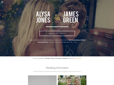 Cherished - An engagement and wedding theme for WordPress engagement wordpress theme wedding wordpress theme wedding homepage minimal themeforest wordpress