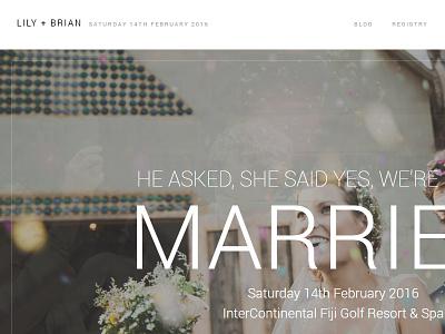 Lily WordPress Wedding Theme simple type masonry minimal clean white wordpress wedding