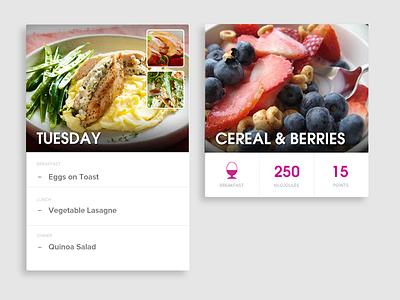 Food Card Exploration card component module ui user interface design card ui app application