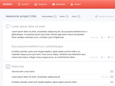 Project view light clean ui minimalist bright collaboration helvetica ars maquette projects