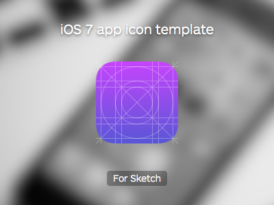 Ios app icon sketch