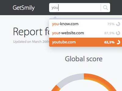 GetSmily dashboard