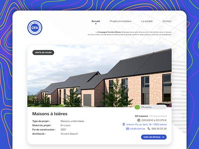 CFA - Real estate ui design small business real estate realestate smallbusiness company uidesign branding design blue clean light