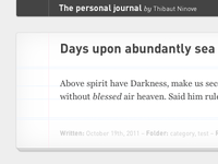 Diary, your personal journal