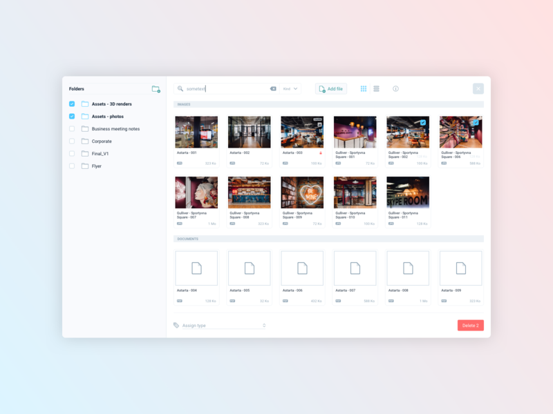 Rialto • File manager by Thibaut Ninove on Dribbble