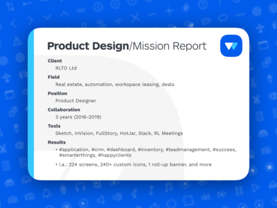 Rialto • Product Design/Mission report
