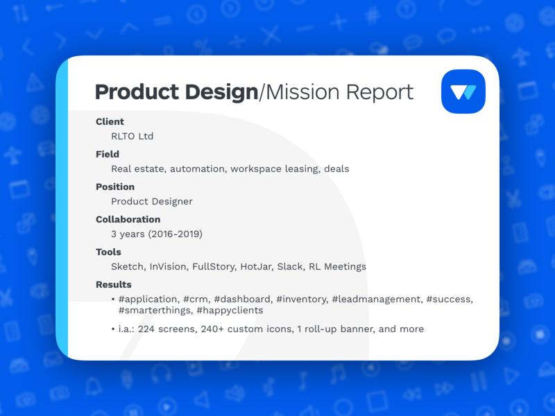 Rialto • Product Design/Mission report
