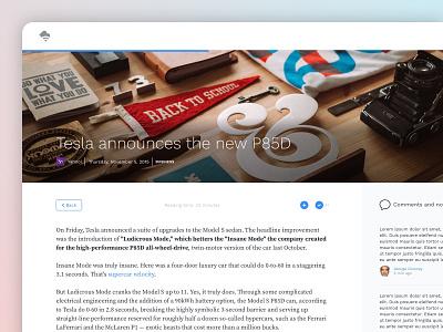 BV • Article view reading typography big header hero gradient product design web app app design publishing news post article story ui design ui application app