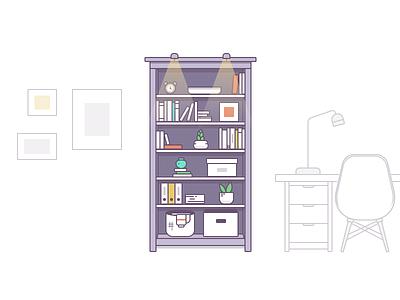 Bookcase box books design ikea icon illustration bookcase